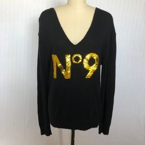 Wildfox Sweaters - Wildfox White Label Sequined No. 9 Sweater